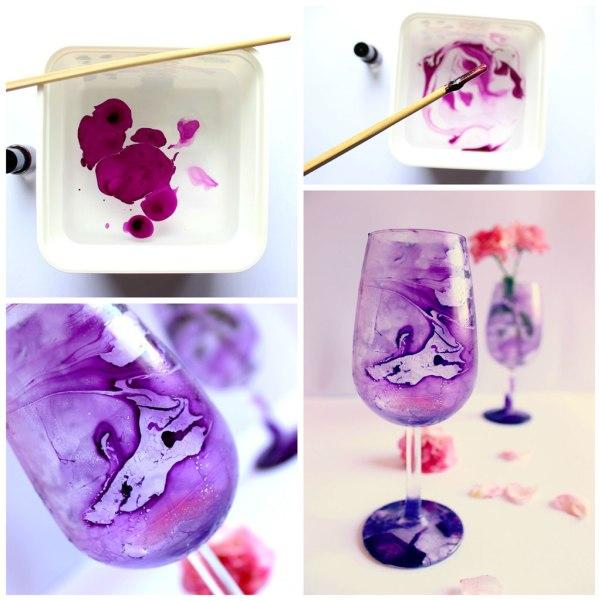 tutorial bicchiere marmorizzato
