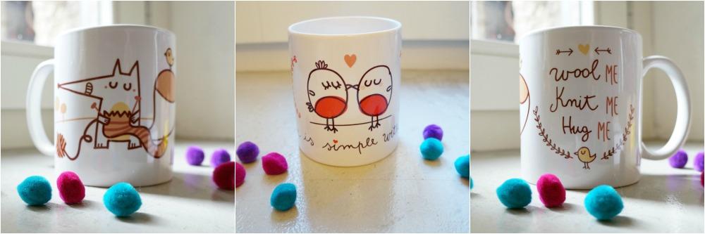 mug petit pois rose