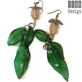 orecchini foglie