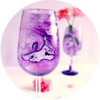 bicchiere marmorizzato