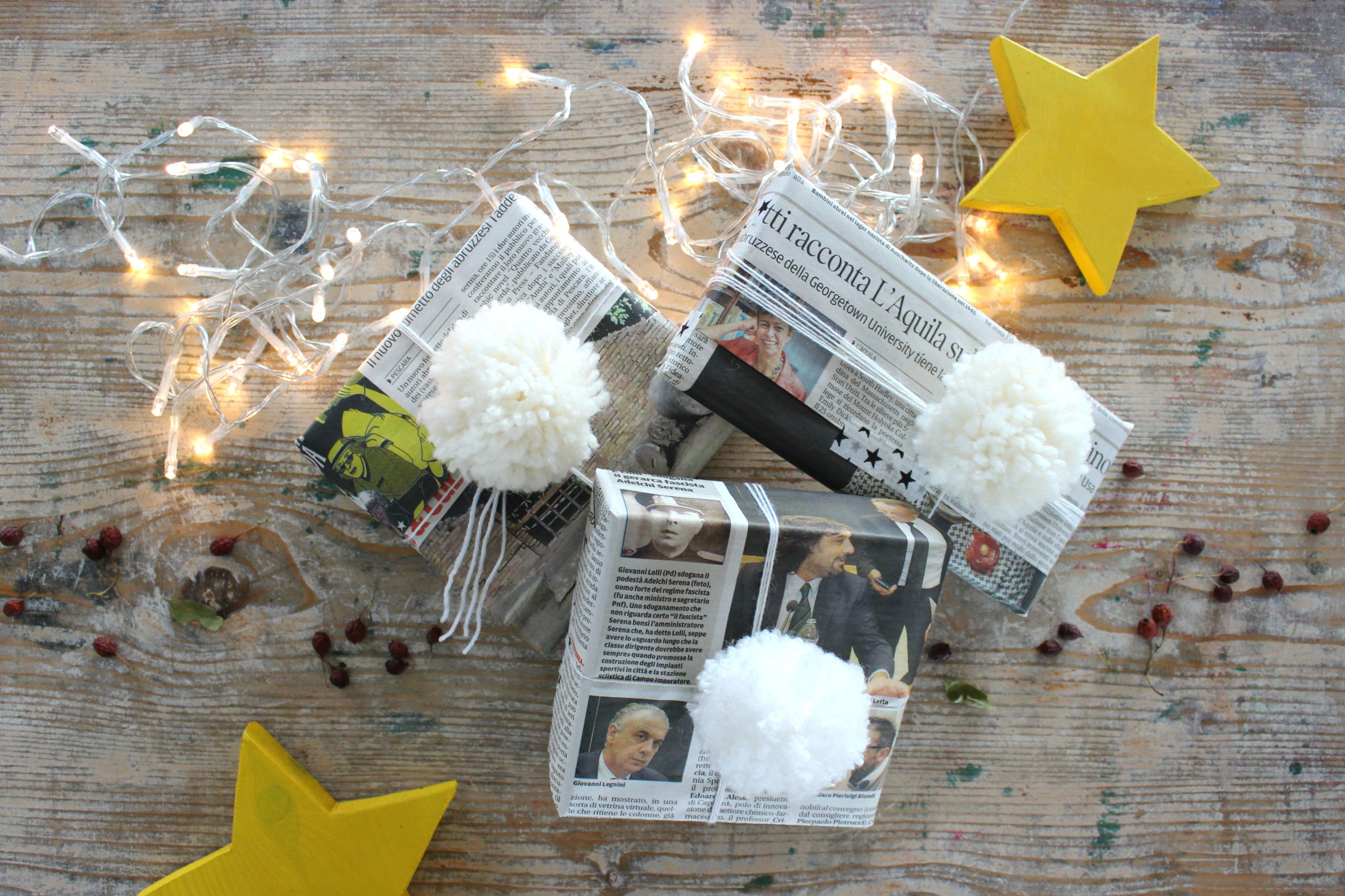 impacchettare i regali con carta riciclata